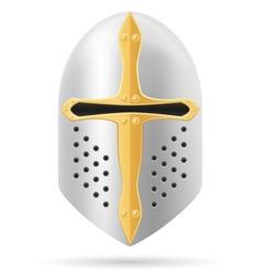 battle helmet 01 vector image