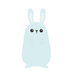 Bunny rabbit funny head face big ears cute kawaii vector
