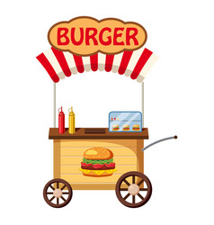 Burger mobile snack icon cartoon style vector