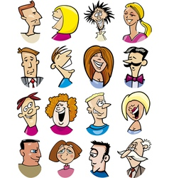 cartoon people characters vector image vector image