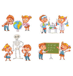children in the lesson vector image vector image