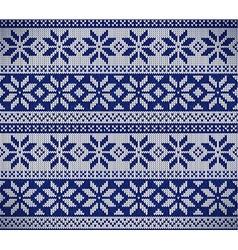 Christmas nordic seamless knitting vector
