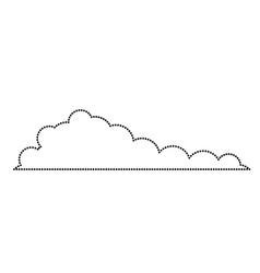 cloud monochrome icon silhouette dotted vector image vector image