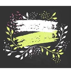 Creative artistic background art invitation vector
