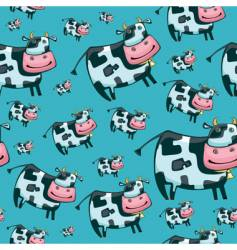 cute friendly cow pattern vector image vector image