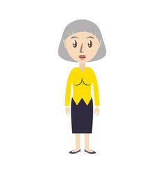 Cute grandmother cartoon vector