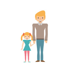 dad and daughter happy image vector image