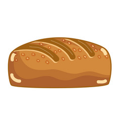 Delicious fresh bakery bread food vector