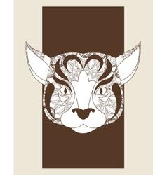 Dog icon animal and ornamental predator design vector