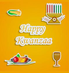 Elements of kwanzaa background vector