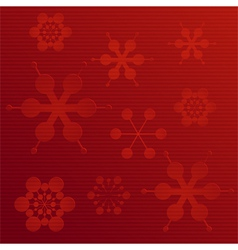embossed paper snowflake background on red vector image vector image