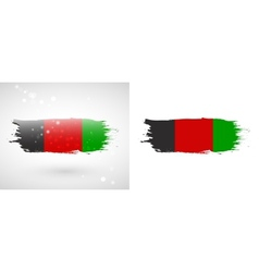 Flag of afghanistan vector