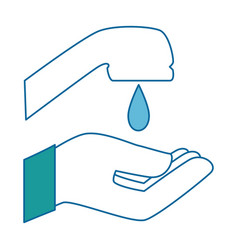 hand washing isolated icon vector image