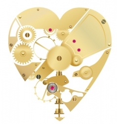 heart gear vector image
