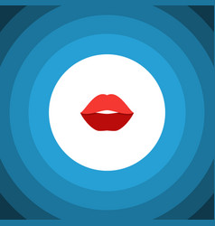 Isolated rouge flat icon mouth element can vector