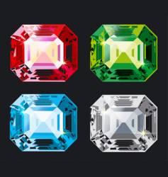Kristal set vector image vector image