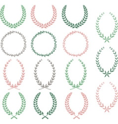 Laurel Wreaths Hand Drawn Laurel Wreaths Collectio vector image vector image