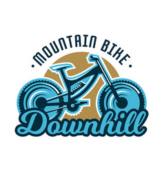 logo mountain bike downhill subject extreme vector image