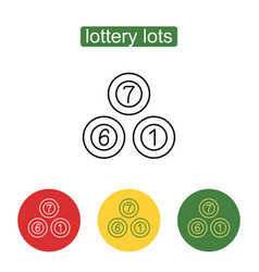 lottery balls icon vector image