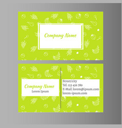 organic foods business card design vector image vector image