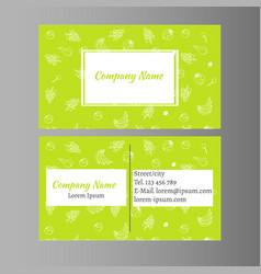 organic foods business card design vector image