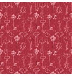 retro keys vector image