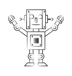 robot arm technology vector image vector image