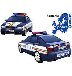 Romania police car vector