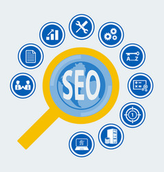 Seo icon set for infographic vector