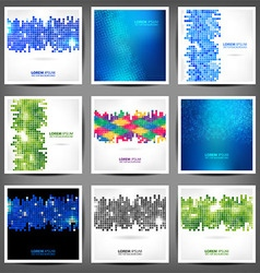 Set of business banners triangles and squares vector image