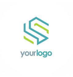 Shape line letter s business logo vector
