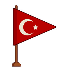 table flag of turkey icon cartoon style vector image