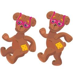 Teddy bear with sunglasses vector