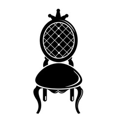 Throne icon simple black style vector