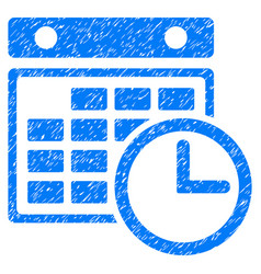 Timetable grunge icon vector