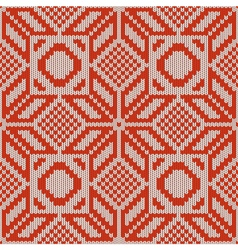 Winter knitted pattern 1 vector