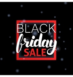 Black friday sale lettering in frame vector