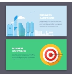 Flat style infographic advertising campaign types vector