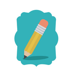 Isolated pencil of school design vector