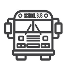 school bus line icon transport and vehicle vector image
