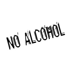 no alcohol rubber stamp vector image
