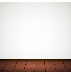 Wall with wooden floor vector