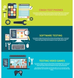 Software games phones crash testing vector image