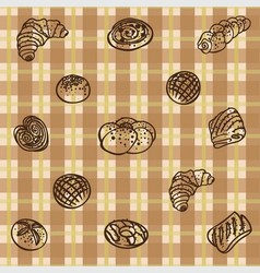 Buns for breakfast background vector