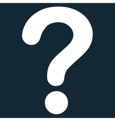 Question flat white color icon vector
