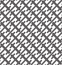 Abstract monochrome seamless pattern vector