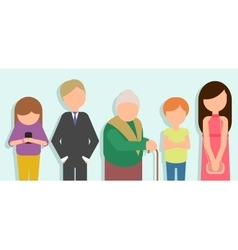 People standing in line vector image