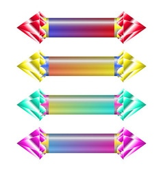 Indicators with gems vector