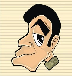 Character man head vector