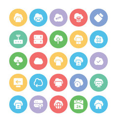 Cloud computing icons 5 vector